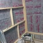 【ガレージ内装DIY-Part9】内装壁用骨組み作り 2【イナバ物置・自作】