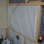【ガレージ内装DIY-Part12】内装壁用ロックウールと化粧板の設置開始【イナバ物置・自作】