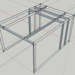 【ガレージ内装DIY-Part18】天井収納構想と骨組み【イナバ物置・自作】