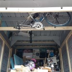 【ガレージ内装DIY-Part21】収納用骨組み加工の続きと組立て2【イナバ物置・自作】
