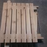 【焚き火テーブルの自作】ユニフレーム風ステンレストップの折り畳みローテーブルPart2