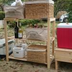 【木工DIY】格安桧(ひのき)の板材を使ったキャンプ用フォールディングラック/棚の自作