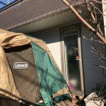 【グランピング?!】ウッドデッキにテントを張って自宅で冬キャンプ