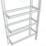 【ガレージ内装DIY-Part26】L字型の棚を増設するPart1 【イナバ物置・自作】