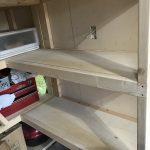 【ガレージ内装DIY-Part28】L字型の棚を増設するPart3 【イナバ物置・自作】